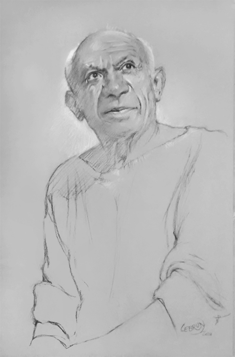 Pablo Picasso by Lebrun